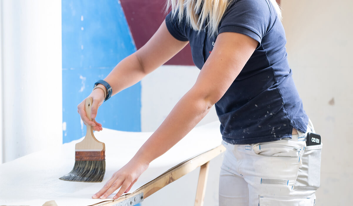 Women painting and decorating